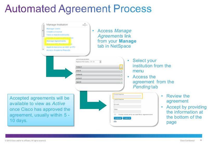 CiscoNEtacadAutomatedAgreementProcess