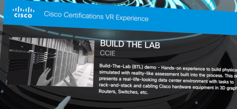 Cisco Certifications VR Experience